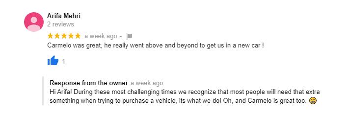 Happy Customer Testimonial